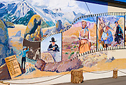 Western films mural at the Bevery and Jim Rogers Musuem, Lone Pine, California