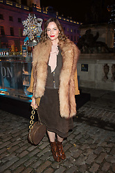 SIENNA GUILLORY at the launch of Skate at Somerset House in association with Fortnum & Mason held at Somerset House, The Strand, London on 17th November 2015.