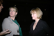 MRS. ROBERT FOX AND JOANNA DAVID, Tom Cairns directs Almeida Fundraising Benefit sponsored by Coutts and Co. -A Chain Play by Samuel Adamson, Moira Buffini, David Hare, Charlotte Jones, Frank McGuinness and Roy Williams. Almeida theatre. London. 23 March 2007.  -DO NOT ARCHIVE-© Copyright Photograph by Dafydd Jones. 248 Clapham Rd. London SW9 0PZ. Tel 0207 820 0771. www.dafjones.com.