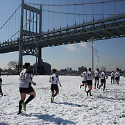 Mystic River take to the field for their game with the Connecticut Yankees in the Men's Club Division game during the Four Leaf 15s Rugby Tournament which attracted over 60 clubs teams from New York and Interstate. Randall's Island Park, New York,  USA. 21st March 2015. Photo Tim Clayton