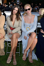 Emily Ratajkowski and Chiara Ferragni attending the Jacquemus Fashion Show during Paris Fashion Week Womenswear Spring - summer 2019 held in Paris, France on september 24 , 2018. Photo by Aurore Marechal/ABACAPRESS.COM