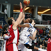 Anadolu Efes's Terence Kinsey (C) during their Turkish Basketball League match Anadolu Efes between Erdemir at Arena in Istanbul, Turkey, Wednesday, January 28, 2012. Photo by TURKPIX