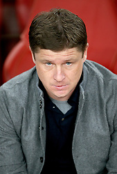 BATE Borisov head coach Alyaksey Baha prior to the match