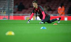 Arsenal's Matt Macey warms up head of his debut. - Mandatory by-line: Alex James/JMP - 24/10/2017 - FOOTBALL - Emirates Stadium - London, England - Arsenal v Norwich City - Carabao Cup
