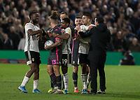 Football - 2019 / 2020 Sky Bet (EFL) Championship - Fulham vs. Leeds United<br /> <br /> Tempers flare in a niggly game at Craven Cottage<br /> <br /> COLORSPORT/DANIEL BEARHAM