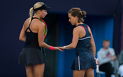 October 3, 2018 - Andrea Sestini Hlavackova & Barbora Strycova of the Czech Republic in action during their doubles match at the 2018 China Open WTA Premier Mandatory tennis tournament (Credit Image: © AFP7 via ZUMA Wire)