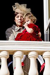 Prinzessin Caroline von Hannover mit Enkelin India Casiraghi bei den Feierlichkeiten zum Nationalfeiertag in Monaco / 191116<br /> <br /> ***National Day in Monaco, November 19th, 2016***