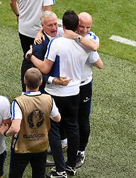 France Manager Didier Deschamps celebrates  - Mandatory by-line: Joe Meredith/JMP - 26/06/2016 - FOOTBALL - Stade de Lyon - Lyon, France - France v Republic of Ireland - UEFA European Championship Round of 16