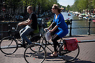 Amsterdam, the Netherlands in summer.