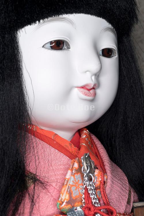 head of Japanese doll