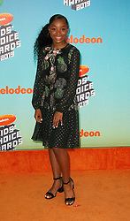 March 23, 2019 - Los Angeles, CA, USA - LOS ANGELES, CA - MARCH 23: Saniyya Sidney attends Nickelodeon's 2019 Kids' Choice Awards at Galen Center on March 23, 2019 in Los Angeles, California. Photo: CraSH for imageSPACE (Credit Image: © Imagespace via ZUMA Wire)