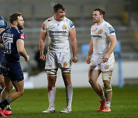 Rugby Union - 2020 / 2021 Gallagher Premiership - Sale vs Exeter - A J Bell Stadium<br /> <br /> Dave Ewers of Exeter Chiefs celebrates at AJ Bell Stadium <br /> <br /> Credit COLORSPORT/LYNNE CAMERON