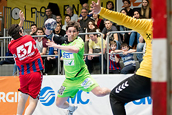 11.03.2017, Halle Hollgasse, Wien, AUT, HLA, SG INSIGNIS Handball WESTWIEN vs HC Fivers WAT Margareten, Oberes Playoff, 5. Runde, im Bild Jakob Jochmann (SG INSIGNIS Handball WESTWIEN) // during Handball League Austria, 5 th round match between HC Fivers WAT Margareten and SG INSIGNIS Handball WESTWIEN at the Halle Hollgasse, Vienna, Austria on 2017/03/11, EXPA Pictures © 2017, PhotoCredit: EXPA/ Sebastian Pucher