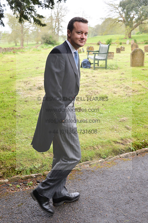The MARQUESS OF BRISTOL at the wedding of Princess Florence von Preussen second daughter of Prince Nicholas von Preussen to the Hon.James Tollemache youngest son of the 5th Lord Tollemache held at the Church of St.Michael & All Angels, East Coker, Somerset on 10th May 2014.