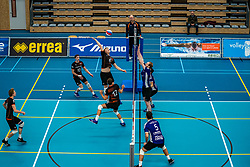 Luuk Hoge Bavel of Talent Team, Luuk  Hofhuis of Talent Team in action during the first league match in the corona lockdown between Talentteam Papendal vs. Vocasa on January 13, 2021 in Ede.