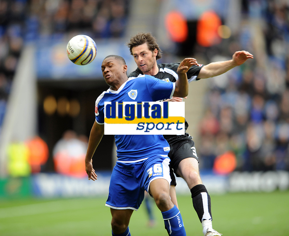Leicester City/Bristol City Championship 08.03.08 <br /> Photo: Tim Parker Fotosports International<br /> Kelvin Etuhu Leicester City & Jamie McCombe Bristol City