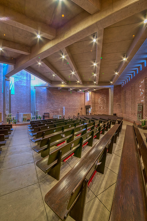 Augustana Lutheran Church of Hyde Park. Interior of Sanctuary photos. April 2015.
