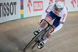 March 2, 2019 - Pruszkow, Poland - Jack Carlin of Great Britain competes in the Men's sprint qualifying race on day four of the UCI Track Cycling World Championships held in the BGZ BNP Paribas Velodrome Arena on March 02 2019 in Pruszkow, Poland. (Credit Image: © Foto Olimpik/NurPhoto via ZUMA Press)