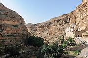 St. George Greek Orthodox Monastery, a monastery located in the Judean Desert Wadi Qelt, in the eastern West Bank