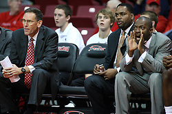 19 November 2011:  Rob Judson, Paris Parham and Anthony Beane during an NCAA mens basketball game between the Lipscomb Bison and the Illinois State Redbirds in Redbird Arena, Normal IL
