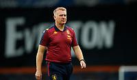 Football - 2019 / 2020 Premier League - Everton vs Aston Villa<br /> <br />  Dean Smith manager of Aston Villa walks off at Goodison Park<br /> <br /> COLORSPORT/LYNNE CAMERON