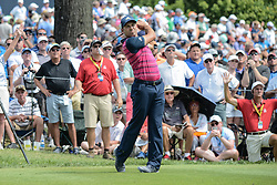 August 9, 2018 - Town And Country, Missouri, U.S - SERGIO GARCIA from Spain tees off from hole number 6 during round one of the 100th PGA Championship on Thursday, August 8, 2018, held at Bellerive Country Club in Town and Country, MO (Photo credit Richard Ulreich / ZUMA Press) (Credit Image: © Richard Ulreich via ZUMA Wire)