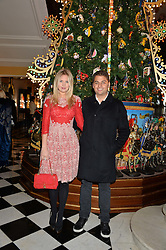 JAMIE REUBEN and MARISSA MONTGOMERY at the Claridge's Christmas Tree By Dolce & Gabbana Launch Party held at Claridge's, Brook Street, London on 26th November 2013.