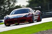 2012 FIA GT1 World Championship.Donington Park, Leicestershire, UK.27th - 30th September 2012.Enzo Ide / Francesco Castellacci, Ferrari 458 Italia GT3..World Copyright: Jamey Price/LAT Photographic.ref: Digital Image Donington_FIAGT1-19174