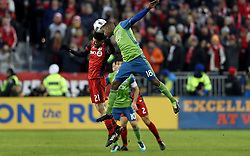 December 9, 2017 - Toronto, Ontario, Canada - Toronto, Canada - December 9, 2017: Toronto FC defeated the Seattle Sounders FC 2-0 to win the 2017 MLS Cup Championship at BMO Field. (Credit Image: © Andy Mead/ISIPhotos via ZUMA Wire)