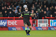 Forest Green Rovers Farrend Rawson(6) during the EFL Sky Bet League 2 match between Crawley Town and Forest Green Rovers at The People's Pension Stadium, Crawley, England on 6 April 2019.