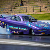 Russell Ladbrook's (2809) Dodge Daytona Funny Car runs in Top Comp at the Perth Motorplex, competing here in AA/FC trim.