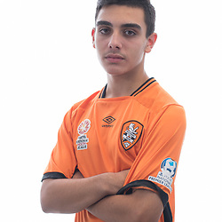 BRISBANE, AUSTRALIA - MARCH 17: Samuel Garcia poses for a photo during the Brisbane Roar Youth headshot session at QUT Kelvin Grove on March 17, 2017 in Brisbane, Australia. (Photo by Patrick Kearney/Brisbane Roar)