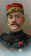 Marshal Ferdinand Foch (1851-1919) French soldier and military theorist. Marshal of France. In the First World War he became Generalissimo of allied forces March 1918.  Chromolithograph.