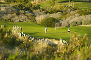 Golfers on the Putting Green at Bella Collina Towne and Golf Club in San Clemente California