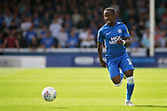 Peterborough United midfielder Siriki Dembele (10) surges forward during the EFL Sky Bet League 1 match between Peterborough United and Luton Town at London Road, Peterborough, England on 18 August 2018.