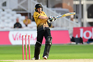 Lewis Hill of Leicestershire during the Vitality T20 Blast North Group match between Nottinghamshire County Cricket Club and Leicestershire County Cricket Club at Trent Bridge, Nottingham, United Kingdom on 4 September 2020.