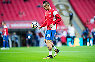 Slovakia (17) Marek HAMSIK (C) during the warm up at FIFA World Cup Qualifier match between England and Slovakia at Wembley Stadium, London, England on 4 September 2017. Photo by Sebastian Frej.