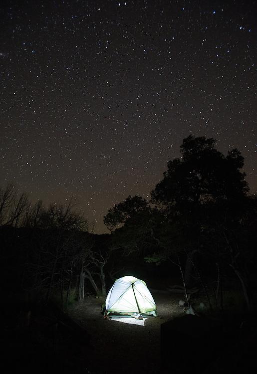 Big Bend National Park, TX 09/30/2013<br /> Campsite SW 4 on the South Rim.<br /> Alex Jones / www.alexjonesphoto.com