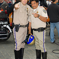 """Carson Daly as Officer Jon Baker and Erik Estrada as Officer Frank Poncherello from the 70's TV show """"CHiPs"""" during the annual Halloween Episode of NBC's The Today Show in New York City."""