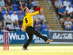 Gloucestershire's Tom Smith in action today <br /> <br /> Photographer Simon King/Replay Images<br /> <br /> Vitality Blast T20 - Round 8 - Glamorgan v Gloucestershire - Friday 3rd August 2018 - Sophia Gardens - Cardiff<br /> <br /> World Copyright © Replay Images . All rights reserved. info@replayimages.co.uk - http://replayimages.co.uk