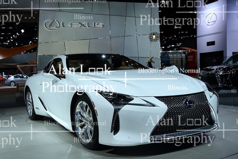 09 February 2017: Lexus LC500h MultiStage Hybrid<br /> <br /> First staged in 1901, the Chicago Auto Show is the largest auto show in North America and has been held more times than any other auto exposition on the continent.  It has been  presented by the Chicago Automobile Trade Association (CATA) since 1935.  It is held at McCormick Place, Chicago Illinois<br /> #CAS17