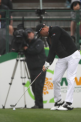 February 3, 2019 - Scottsdale, AZ, U.S. - SCOTTSDALE, AZ - FEBRUARY 03: Justin Thomas tees off on the first hole at the final round of the Waste Management Phoenix Open on February 3, 2019, at TPC Scottsdale in Scottsdale, Arizona.  (Photo by Will Powers/Icon Sportswire) (Credit Image: © Will Powers/Icon SMI via ZUMA Press)