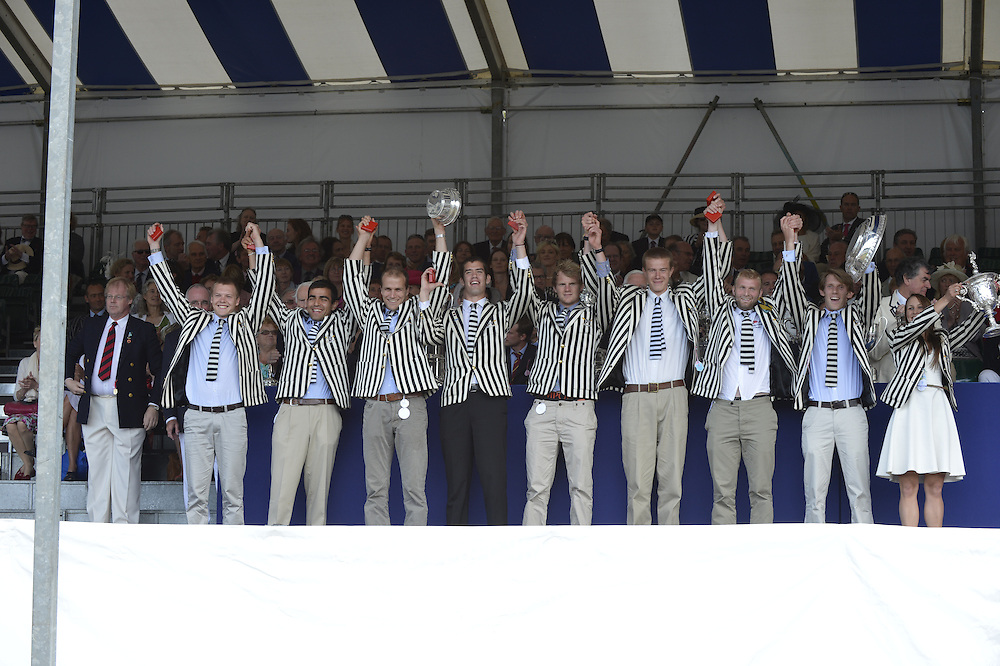 Henley, GREAT BRITAIN.Prize giving Ceramony with Quest The Rt. Hon. The Lord Mayor of London. Alderman David WOTTON  at 2012 Henley Royal Regatta...Sunday  17:49:00  01/07/2012. [Mandatory Credit, Peter Spurrier/Intersport-images]...Rowing Courses, Henley Reach, Henley, ENGLAND . HRR.