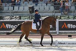 Demi Vermeulen, (NED), Vaness - Freestyle Grade II Para Dressage - Alltech FEI World Equestrian Games™ 2014 - Normandy, France.<br /> © Hippo Foto Team - Leanjo de Koster<br /> 25/06/14