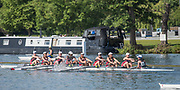 Henley. Berks, United Kingdom. <br /> <br /> JW8+. St Paul's School Concord NH. USA, competing at the 2017 Henley' Women's Regatta. Rowing on, Henley Reach. River Thames. <br /> <br /> <br /> Sunday  18/06/2017<br /> <br /> <br /> [Mandatory Credit Peter SPURRIER/Intersport Images]