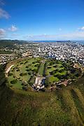 Punchbowl, National Memorial Cemetery of the Pacific, Honolulu, Oahu, Hawaii.