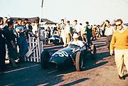 Chris Lawrence. Brands Hatch Elva 100-BMC Formula Junior racing car, Fitzwilliam Racing Team 4th October 1959