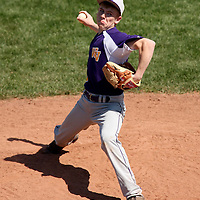 West Valley NY Pitcher Jared Ras on the mound against Randolph NY at Russ Dietrict Park 4-27-13 photo by Mark L. Anderson