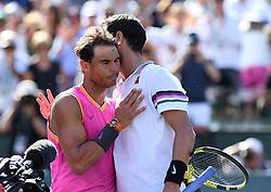 March 15, 2019 - Palm Desert, California, Usa - Tennis : BNP Paribas Open 2019 - Rafael Nadal - Espagne - Karen Khachanov - Russie (Credit Image: © Panoramic via ZUMA Press)