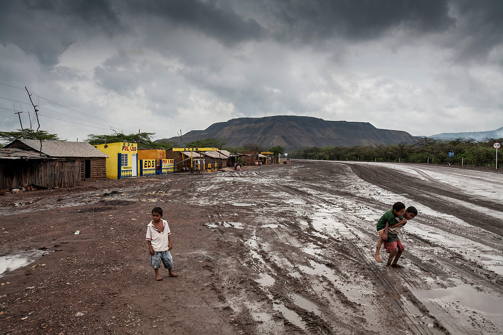 2008 Colombia - Images from Colombia of the huge open cast coal mines and the people if has affected by displacing communities as the mines have expanded to fuel power station in the US and Europe
